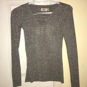 Gray Hollister Long Sleeve Top
